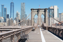 Brooklyn Bridge With New York City