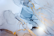 Ink, Paint, Abstract. Closeup ...