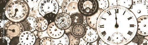 Fotografie, Obraz  Grungy Antique Watch Faces Banner