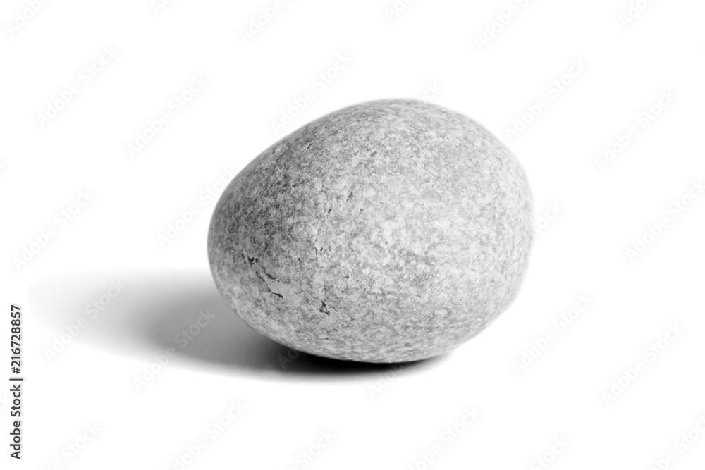 Fototapety, obrazy: Pebbles stone, isolated on white background, sea pebble