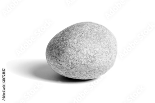 Pebbles stone, isolated on white background, sea pebble Canvas Print
