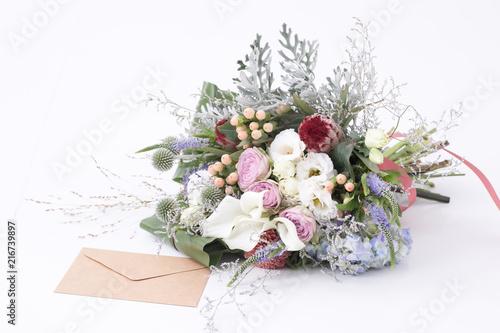 Billede på lærred 花束と手紙