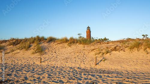 Foto op Aluminium Vuurtoren Leuchtturm in Prerow am Weststrand