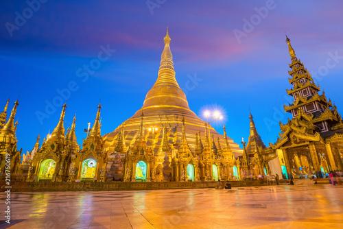 Foto op Plexiglas Asia land Shwedagon Pagoda in Yangon, Myanmar