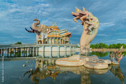 Staande foto Kiev Beautiful sanctuary with Naga statue