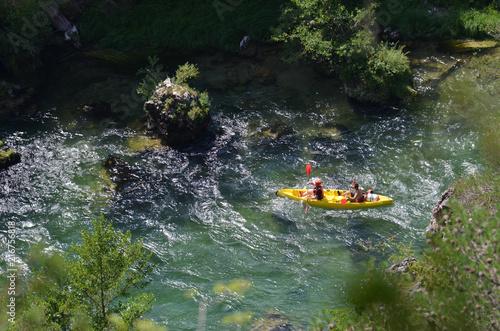 Cuadros en Lienzo Kayak, Canoë,  gorges du Tarn, France