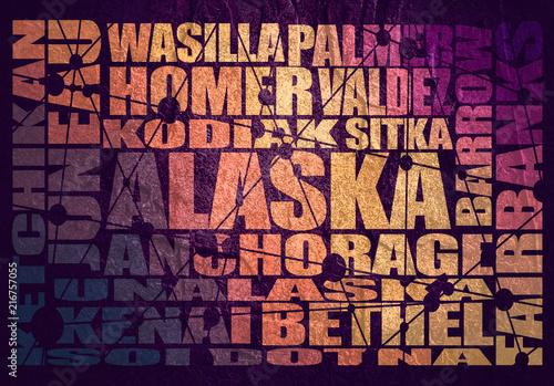 Fotografie, Obraz  Image relative to usa travel. Alaska state cities list
