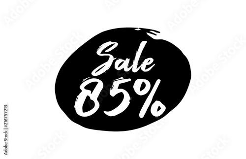 Poster  Sale 85 Percent Discount Lettering black Ink background