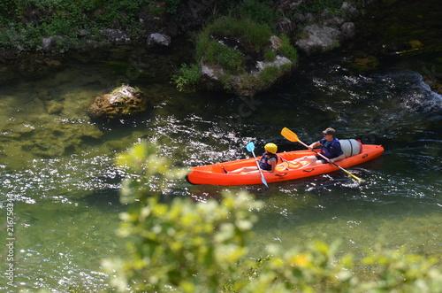 Kayak, Canoë,  gorges du Tarn, France Fotobehang