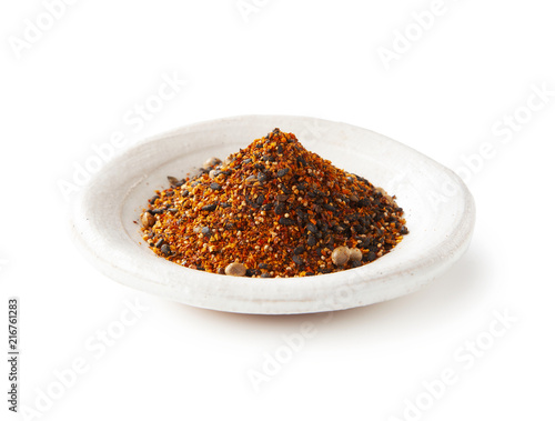 Photo  Shichimi pepper.Blend of seven spices