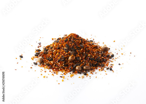 Shichimi pepper.Blend of seven spices Canvas Print
