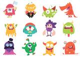 Fototapeta Fototapety na ścianę do pokoju dziecięcego - Cartoon Monsters collection. Vector set of cartoon monsters . Design for print, party decoration
