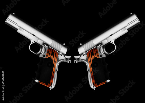 Shot Guns Black Background Two Silverbollers Hitman Weapon Cletcher Buy This Stock Vector And Explore Similar Vectors At Adobe Stock Adobe Stock