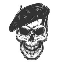 Skull In The Painter Hat
