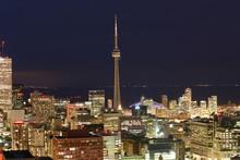 Toronto, Provice Ontario, Canada. The Night View