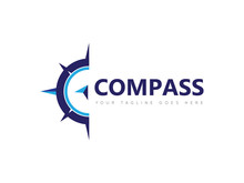 Compass Logo, Icon, Symbol Design Template