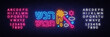 Rosh Hashanah jewish holiday neon banner design template. Happy Jewish New Year. Shana tova greeting card, neon sign, modern trend design, light banner. Vector. Editing text neon sign