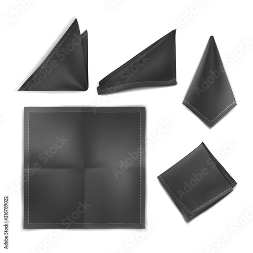 Vector. Mock Up. Black Set Handkerchief Wallpaper Mural
