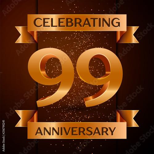 Realistic Ninety nine Years Anniversary Celebration design banner Poster