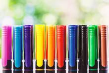 Colour Fine Liner Pen Against ...