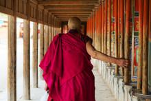 Pilgrim At Labrang Monastery ,Xiahe,china