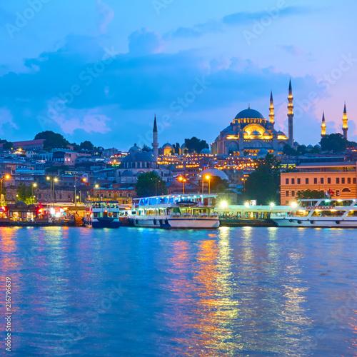 Foto auf AluDibond Stadt am Wasser Fatih district in Istanbul