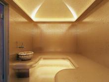 3D Rendering Interior Of Luxury Gold Turkish Bath Hammam
