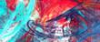 Leinwandbild Motiv Bright artistic splashes. Abstract painting color texture. Modern futuristic pattern. Dynamic bright multicolor background. Fractal artwork for creative graphic design