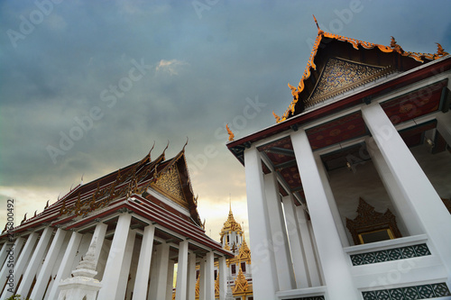 Foto op Plexiglas Bedehuis Loha Prasat at Wat Ratchanadda temple,This is the beauty of architecture and Buddhist temples in Bangkok.
