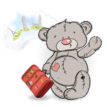 Bear Traveler With A Suitcase