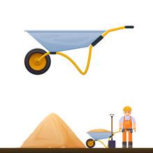 Vector Wheelbarrow Icon, Illus...