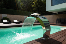Detail Of Swimming Pool With F...
