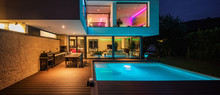 Modern Villa With Colored Led ...