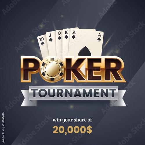 Valokuvatapetti Casino poker tournament banner