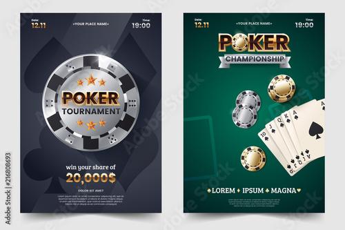 Casino poker tournament invatation design Canvas-taulu