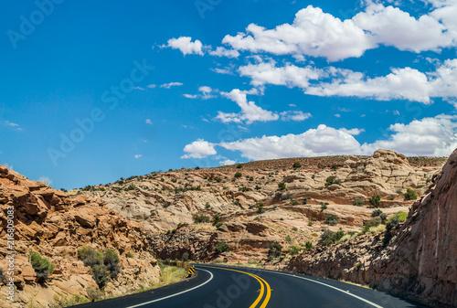 Keuken foto achterwand Verenigde Staten Historical route 66. Road in the Arizona desert