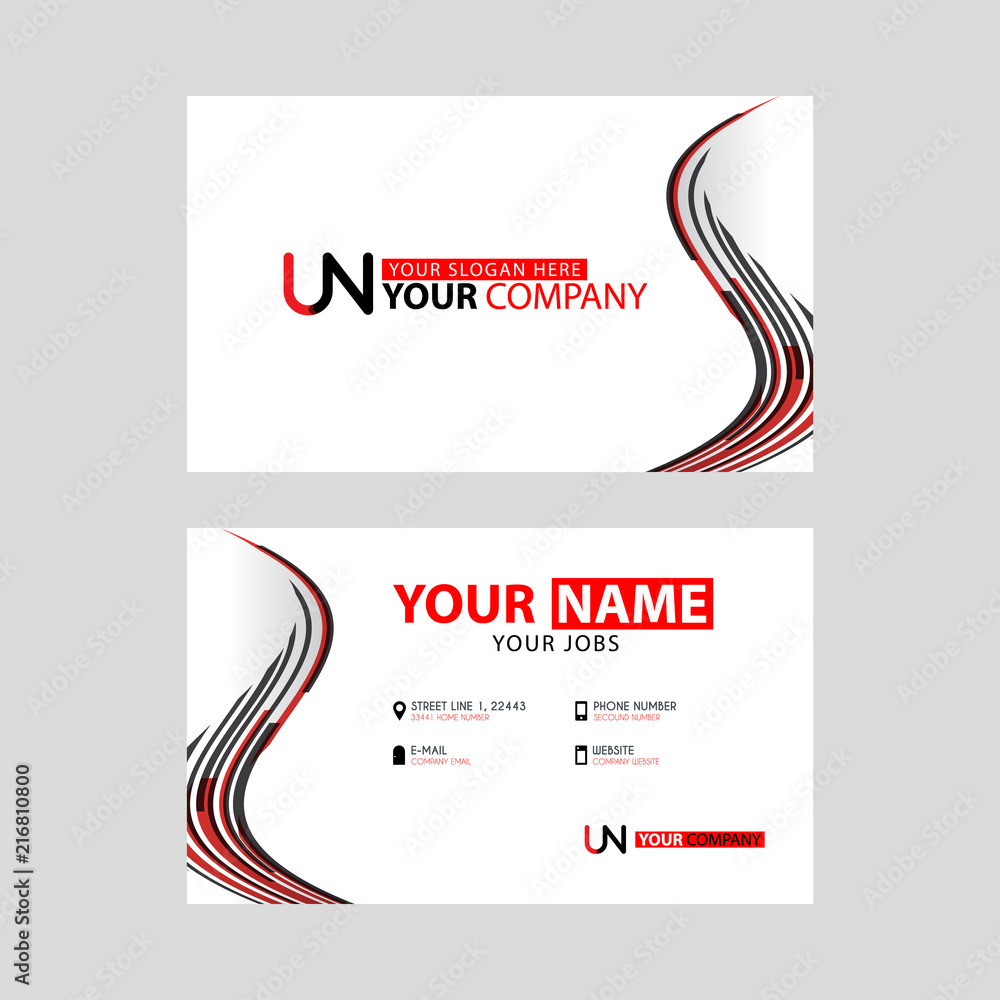 The New Simple Business Card Is Red Black With The Un Logo