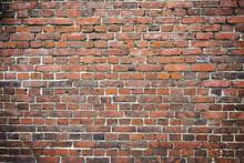 Old Worn Brick Wall Exterior P...