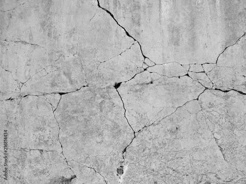 Poster Con. ancienne crack concrete wall background