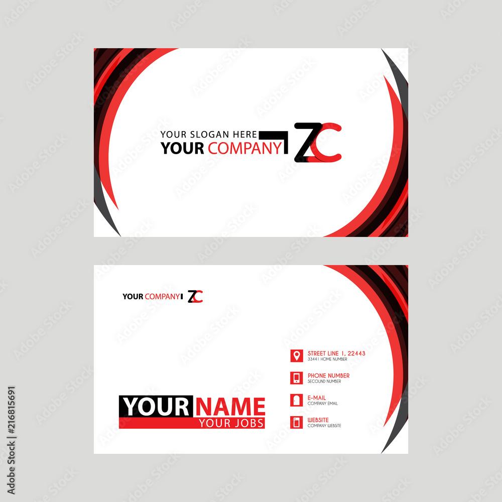 Photo Art Print Modern Business Card Templates With Zc Logo
