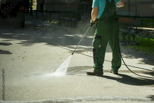 Fototapeta mycie parku woda pod ciśnieniem obraz