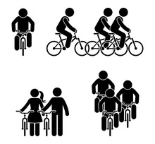 Stick Figure Bicycle Race Pict...