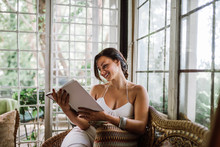 Beautiful Woman Reading A Book...