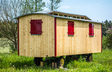 Old Wooden Construction Trailer