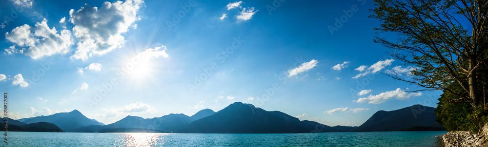 Fototapety, obrazy: walchensee lake