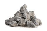 Fototapeta Kamienie - Breakstone 40-70mm on white background