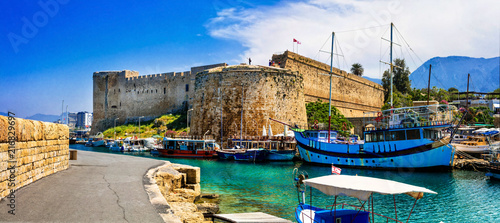 Keuken foto achterwand Historisch geb. Landmarks of Cyprus - medieval fortress in Kyrenia, turkish part of northen Cyprus