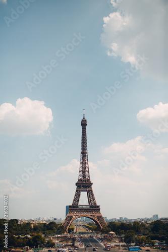 Deurstickers Eiffeltoren The famous Tour Eiffel