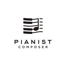 Piano Music Composer Logo Design Inspiration