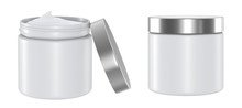 Cosmetics Jar Isolated On Whit...